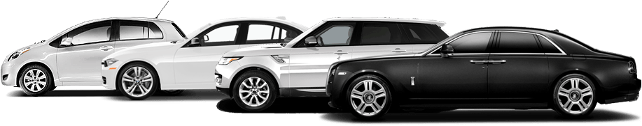 Black and White Car Rentals in Los Angeles