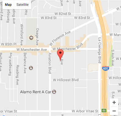 Black And White Car Rental Location LAX California