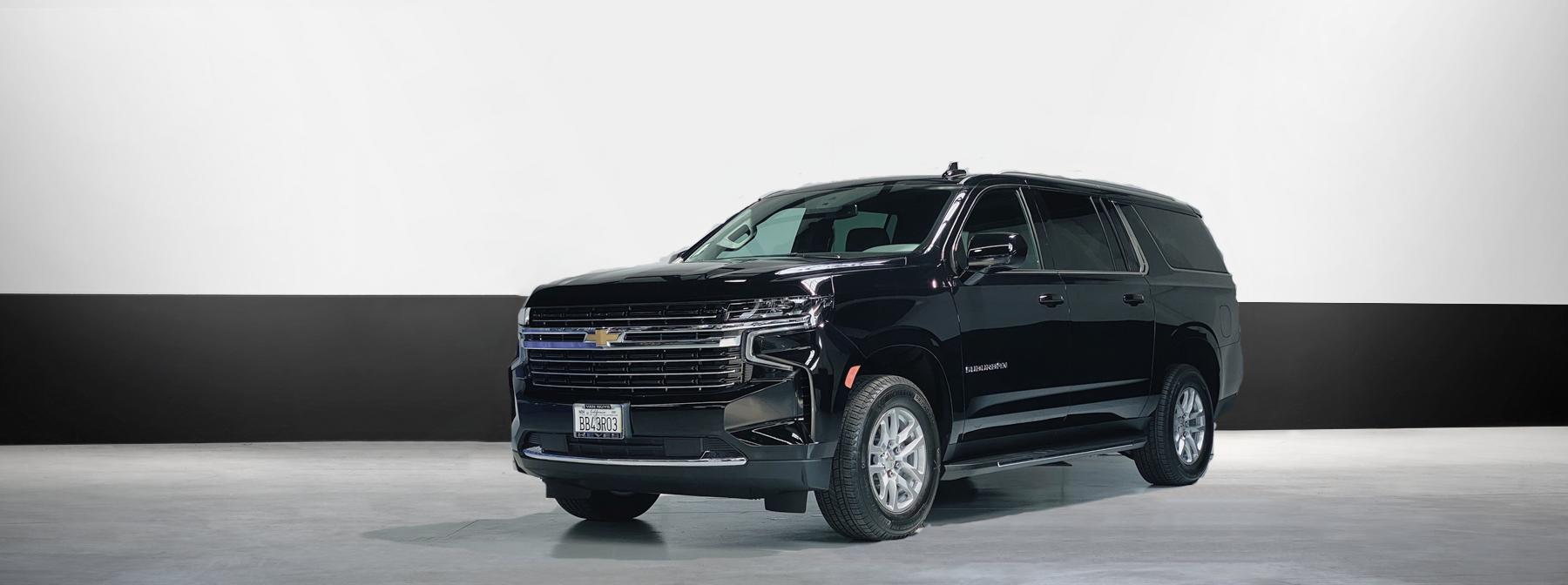 Chevrolet suburban luxury suv rental in black