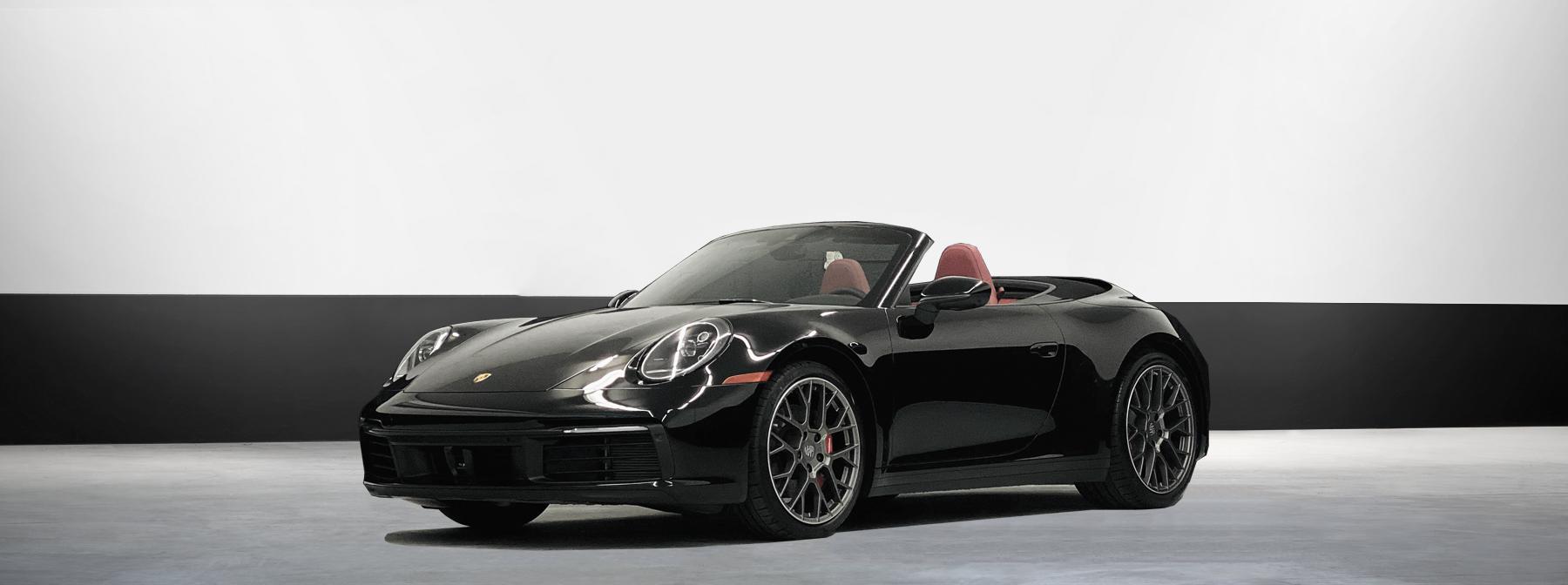 Porsche Convertible Rental in black