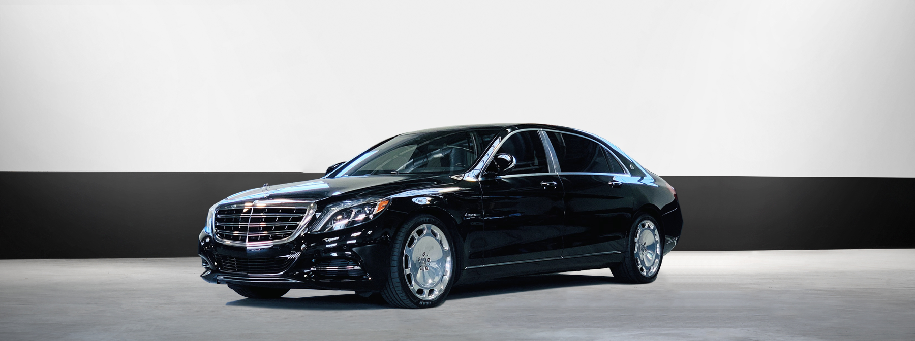 mercedes exotic car rental s550 maybach in black