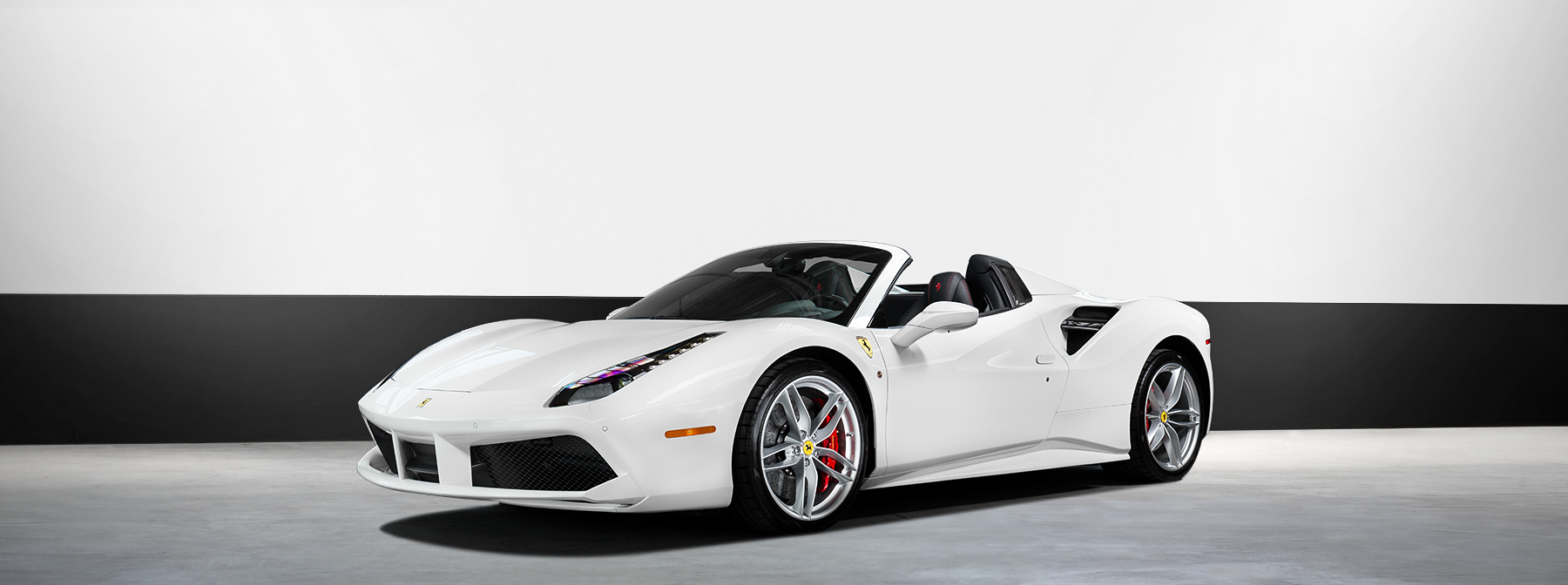 We Have Just Upgraded Our White Ferrari 488 Spider, This Brand New Exotic  Convertible Rental Now Includes A Special Sport Package Featuring Upgraded  Factory ...