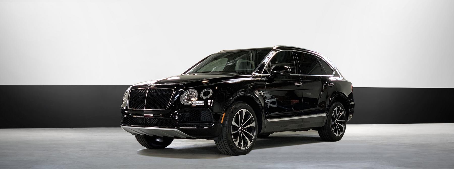 Bentley rental Bentayga in black