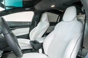 tesla electric car rental x1000d front row