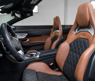 Satin White C63 S Convertible Seats