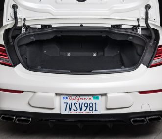 Satin White C63 S Convertible Trunk
