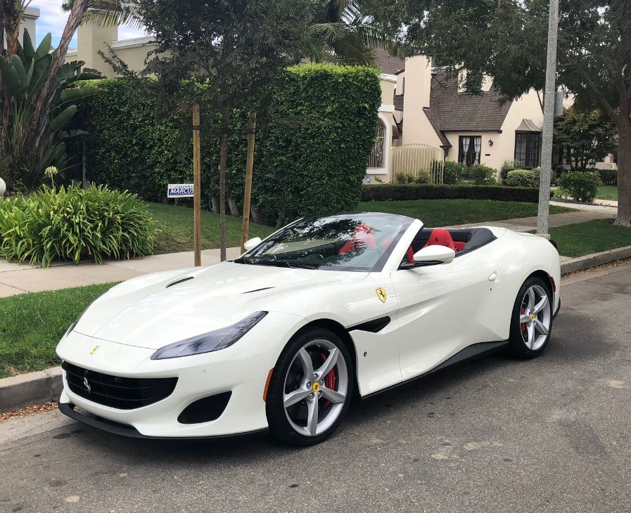 Rent A Ferrari Portofino San Francisco Black White Car Rental