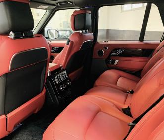 range rover luxury car rental back row