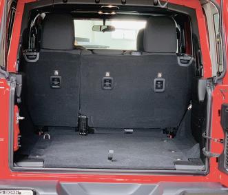 Jeep Rental Rubicon trunk
