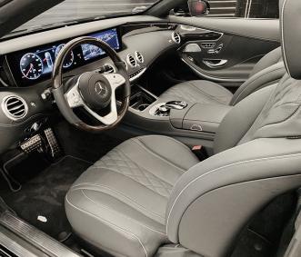 mercedes convertible rental s560 interior front row