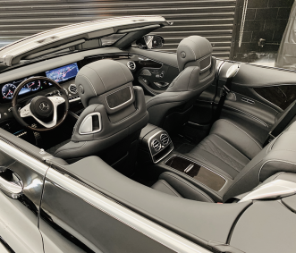 mercedes convertible rental s560 interior