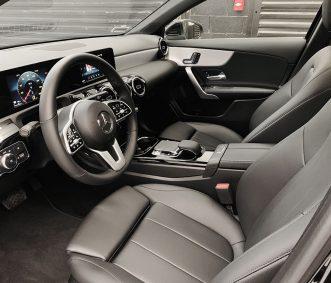 Mercedes exotic car Rental A220 interior front row