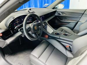 Porsche rental Taycan interior front row