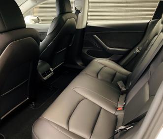 Tesla rental back seat